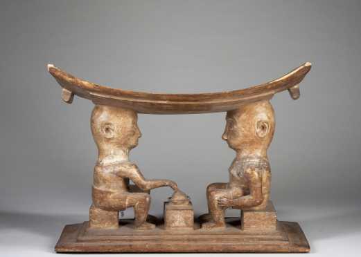 A fine Fanti figural stool