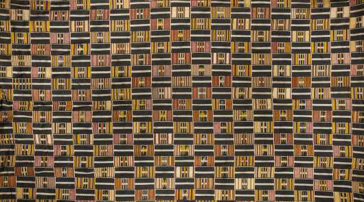 A superb Ewe strip woven textile