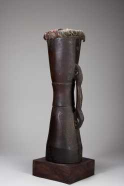 A Sepik River drum
