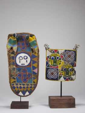 Two Yoruba beaded ornaments