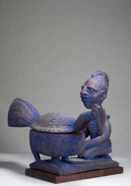 A superb Yoruba offering bowl by Obembe Alaye (d. 1939)