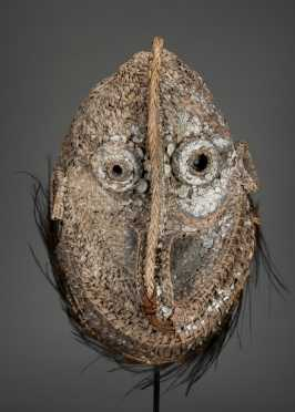 A Middle Sepik basketry mask