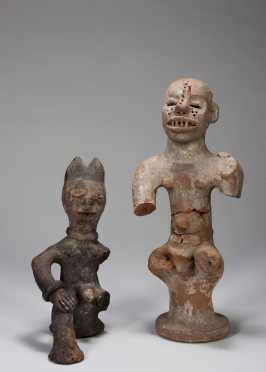 Two Igbo terracotta figures