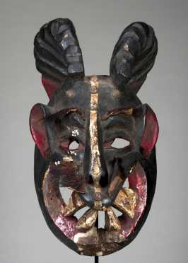 A Nigerian horned mask