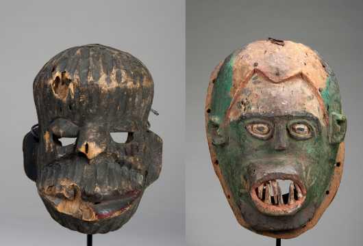 Two Nigerian masks