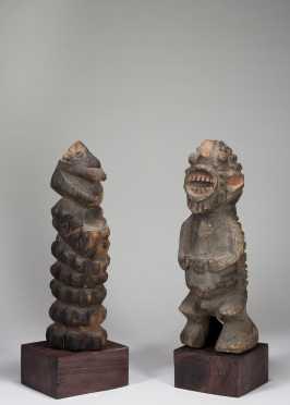 Two Mambilla or Mfumte figures
