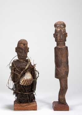 Two Yaka Mbwoolo figures