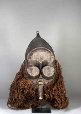A fine and unusual Nkanu mask