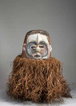 A fine and rare Kwese mask