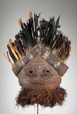 A fine Binji woven fiber mask