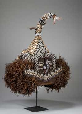 A Kuba Mukienge elephant mask