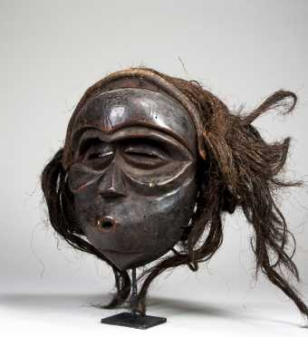 An unusual Mbunda mask