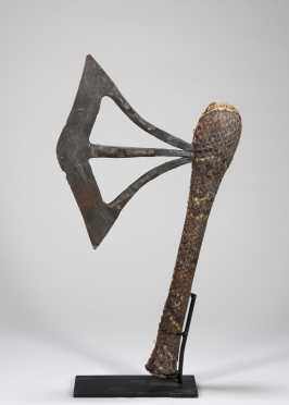 A fine Songye or Nsapo prestige adze, likely 19th C.