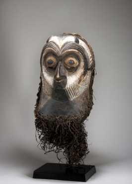 A fine Luba owl Kifwebe mask