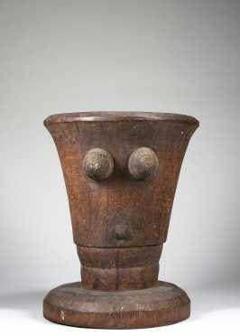A fine Tanzanian figural mortar