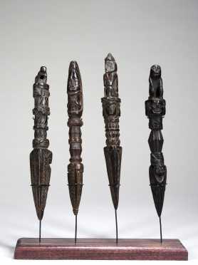 Four fine Himalayan Phurbas