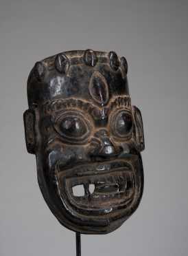 A superb Darmāpala Mask - Protectorate of the Buddhist Faith; possibly Mahākāla