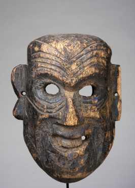An elderly man mask