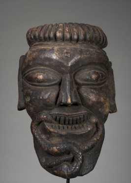 Protective apotropaic mask