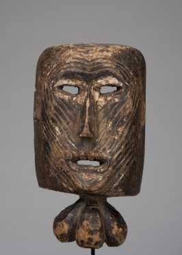 A Shamanic goiter mask