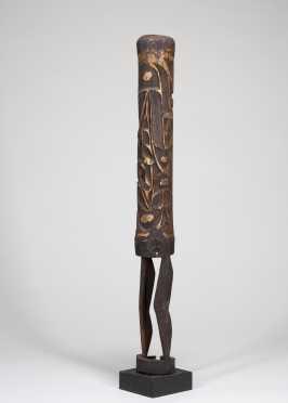 An Anthropomorphic Asmat head-hunter's trumpet