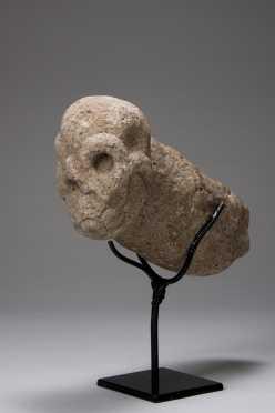 A Mayan skull tenon