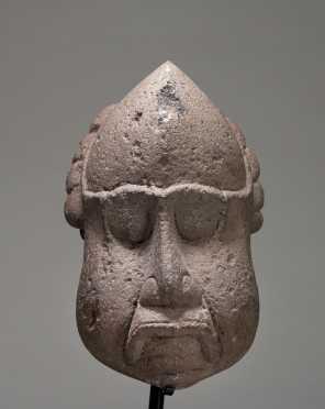 A Mayan stone head