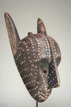 A Bamana Kore society mask