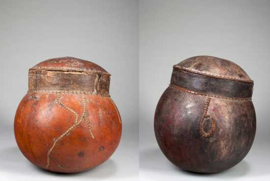 Two African calabashes