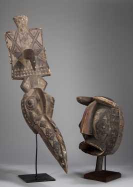 Two Burkinabe masks